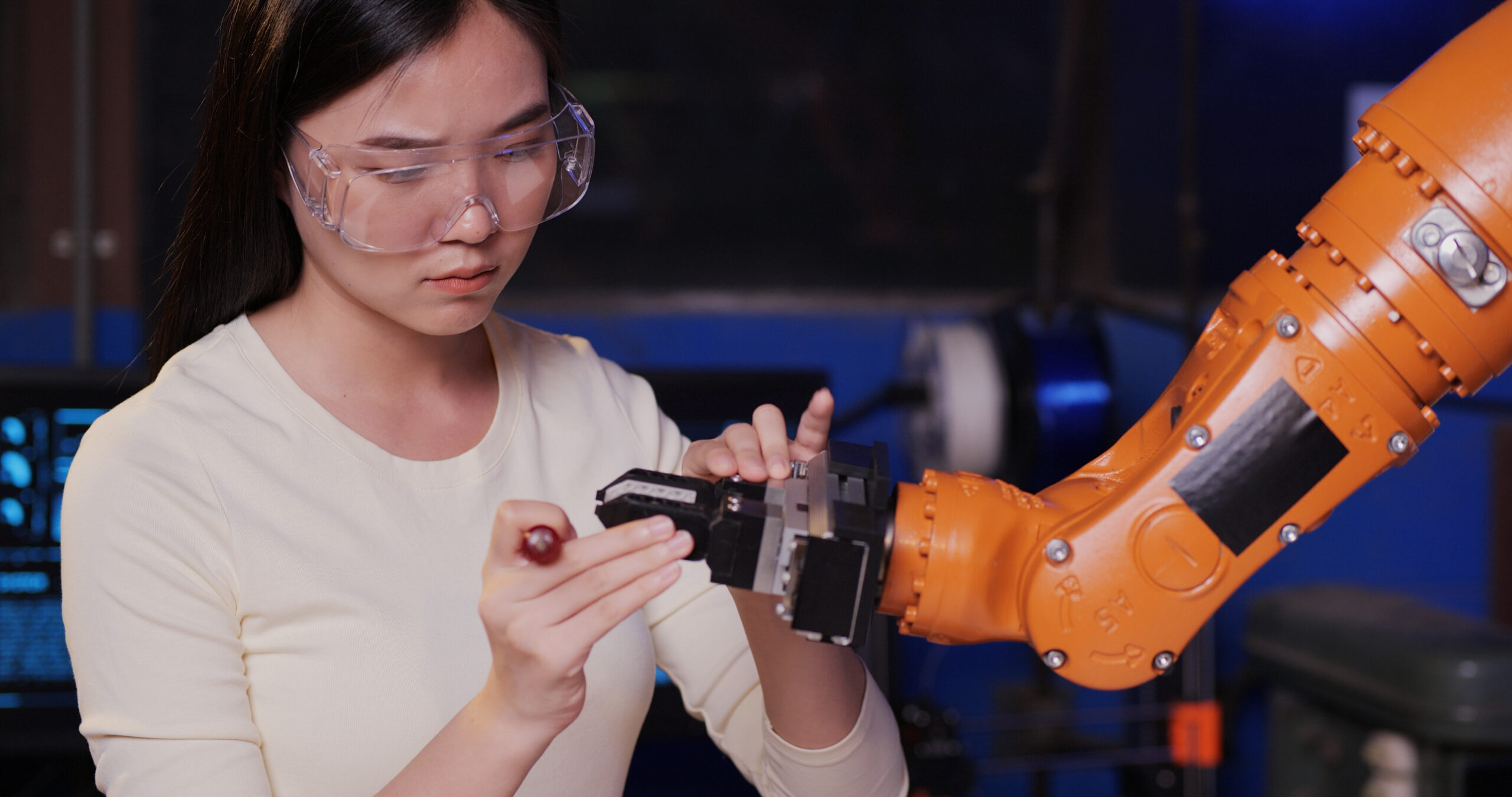woman working in the high tech industry