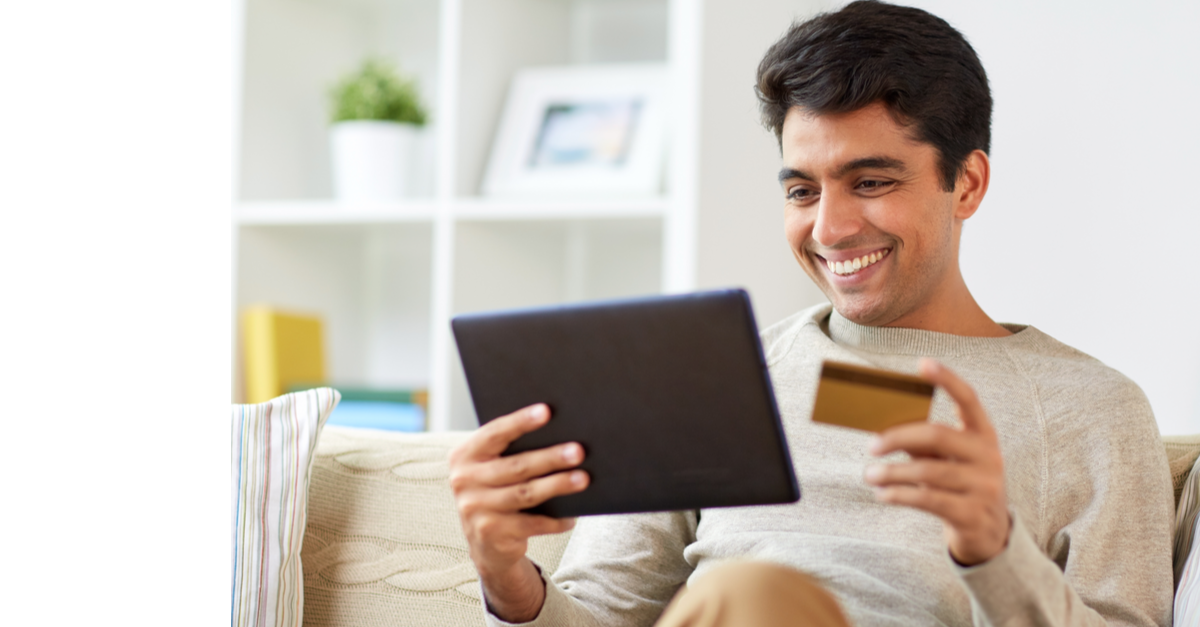 man online with credit card services